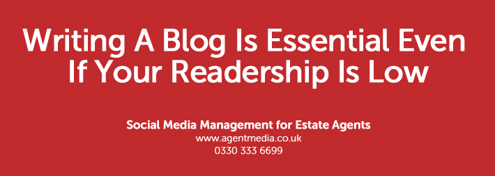 Writing A bLog Is Essential Even If Your Readership Is Low